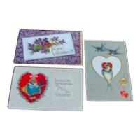 Three Valentine Postcards