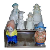 Three Dutch Couple Salt and Pepper Shakers