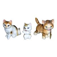 Three Lovely Cat Figurines