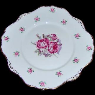 Royal Stafford Tudor Rose Cake Plate