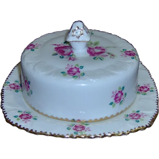 Royal Stafford Tudor Rose Covered Butter Dish