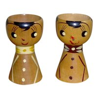 Pair of Wooden Egg Cups