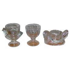 Vintage Clear Glass Egg Cups