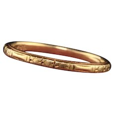 Antique Art Deco 18K Yellow Gold Wedding Band - Size 6.5