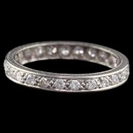 Art Deco Platinum & Diamond Eternity Band - Size 6.5