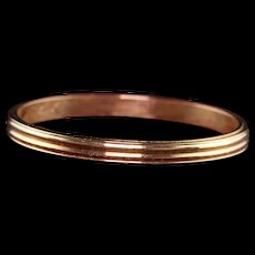 Antique Art Deco 14K Yellow Gold Classic Grooved Wedding Band