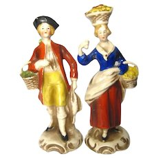 Rare Pair of Porcelain Figurines by Goebel Archiv Muster Germany NM 574 A and B