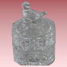Hofbauer Germany Byrdes Crystal Trinket Box