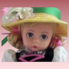 """7"""" Madame Alexander """"75th Anniversary"""" Doll with Tag"""
