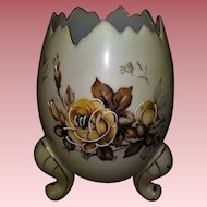 Vintage Footed Egg Vase with FREE BONUS