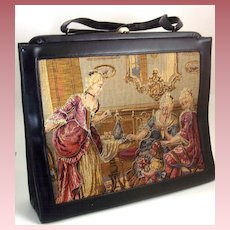 Soure' Bag New York ~ Trapunto Handbag ~ Ladies in Drawing Room