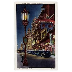 Vintage Postcard - Chinatown, San Francisco