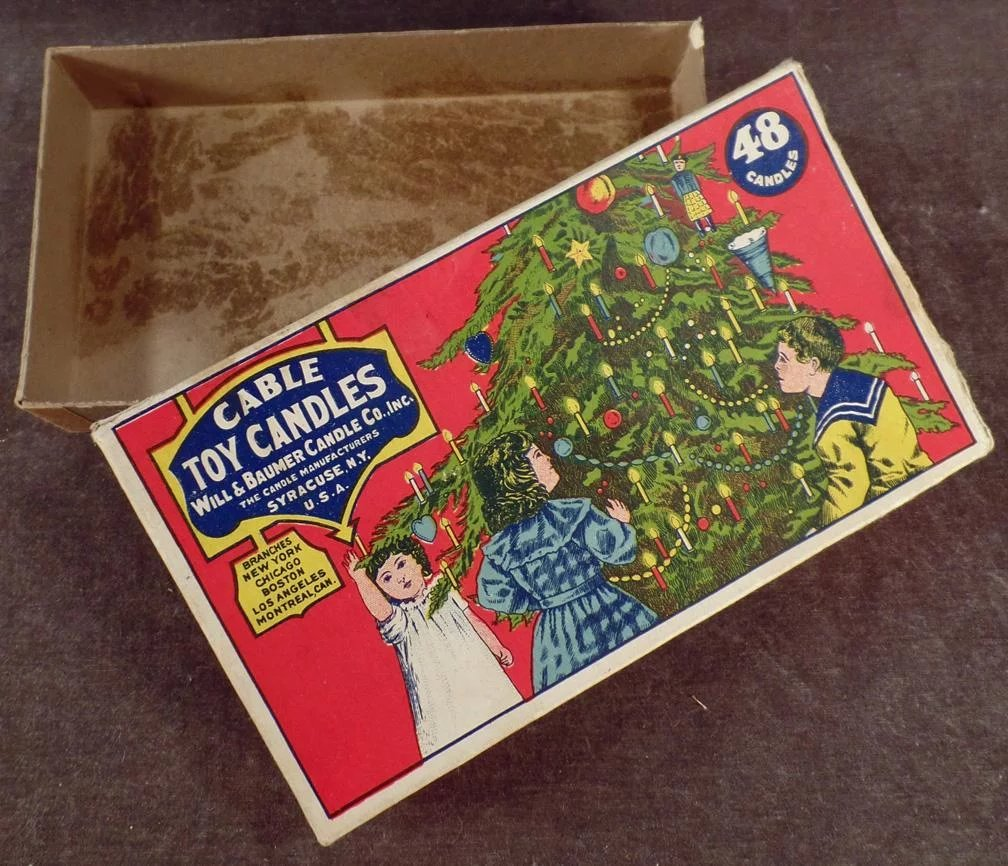 Christmas Tree Lane Los Angeles: Vintage Box For Cable Toy Candles
