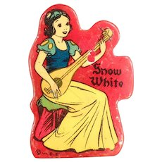 Vintage Pencil Sharpener - Disney's Snow White on Red Catalin