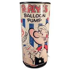 Vintage, Popeye Balloon Pump - 1957 Copyright by King Features Syndicate