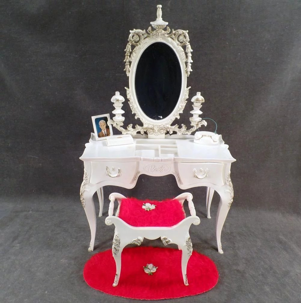 Vintage Susy Goose Barbie Vanity Table With Matching