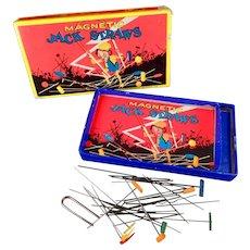 Vintage Milton Bradley, Magnetic Jack Straws Game - 1920's