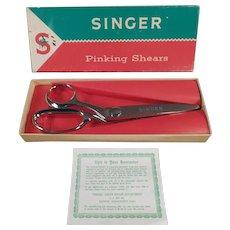 Vintage Singer Pinking Shears with Original Box - Left Handed Scissors