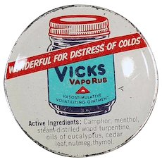 Vintage Vicks Vaporub Tin with Nice Graphics