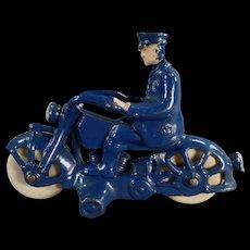 Vintage Cast Iron Motorcycle Cop – A.C. Williams 1930's - All Original