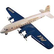 Vintage - Marx Super 7 Clipper - Pressed Steel Airplane