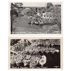 Two Vintage Postcards - Photographs of Depoe Bay, Oregon