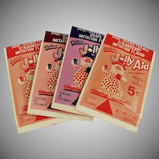 Vintage Jolly Aid Packets - Nice Clown Graphics - In Different Colors