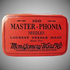 Vintage Phonograph Needle Tin - Montgomery Ward Master-Phonia