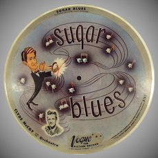 Vintage Vogue Picture Record - Sugar Blues and Basin Street Blues