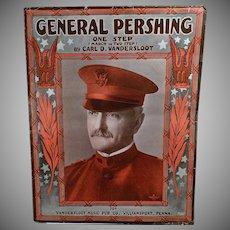 Vintage Sheet Music - General Pershing One Step - 1918