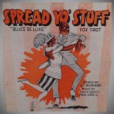 Vintage Black Memorabilia Sheet Music – Spread Yo' Stuff Fox Trot - 1921