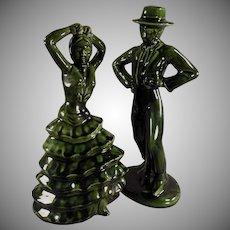 Mid Century Decorator Accent Figurines - Flamenco Dancers