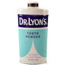 Vintage Tooth Powder Tin – Dr. Lyon's – 1960's