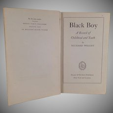 Vintage Hardbound Book - Black Boy by Richard Wright - 1945