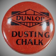 Vintage Dunlop Dusting Chalk Tin for Bicycle Tire Repair