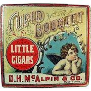 Vintage Tobacco Tin - Cupid Bouquet Little Cigars - Nice Cherub Graphics