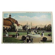 Vintage Postcard - 1915 Panama-California Expo Botanical Court