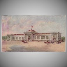 Vintage Advertising Postcard - Watkins Administration Building in Winona