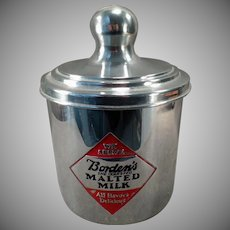 Vintage Borden's Malt Canister – Three Sided Advertising