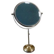Vintage Vanity or Shaving Mirror – Beveled Swivel Mirror on Adjustable Stand