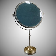 Vintage Vanity or Shaving Mirror – Beveled Swivel Mirror on Adjustable Stand