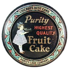 Vintage Fruit Cake Tin  for Christmas Cookies or Decorating
