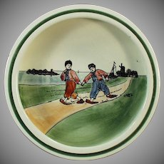 Vintage Baby Plate with Young Dutch Boys - 1920's Germany