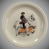 Vintage Hopalong Cassidy Dressed in Black Dinner Plate