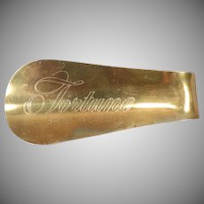 Vintage Advertising Shoe Horn – Fortune Shoes For Men – Unusual Finish
