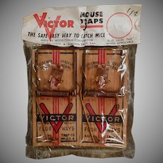 Vintage Victor Mouse Trap - 2 Pack in Original Package