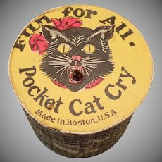 Vintage Pocket Cat Cry Gag Squeaker – Noisemaker Toy
