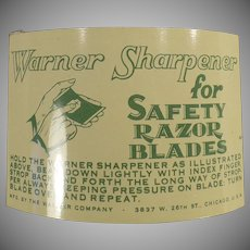 Vintage Razor Blade Sharpener - Warner Sharpener for Safety Razor Blades