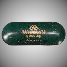 Vintage Willson Goggle Eye Glasses Tin