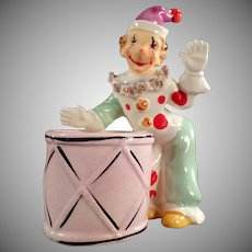 Vintage Ceramic Planter with Fun Clown Figure